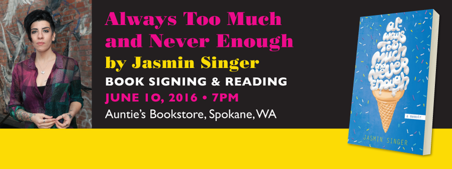 Jasmin Singer Book Reading at Auntie's Books @ Aunti'e Bookstore | Spokane | Washington | United States